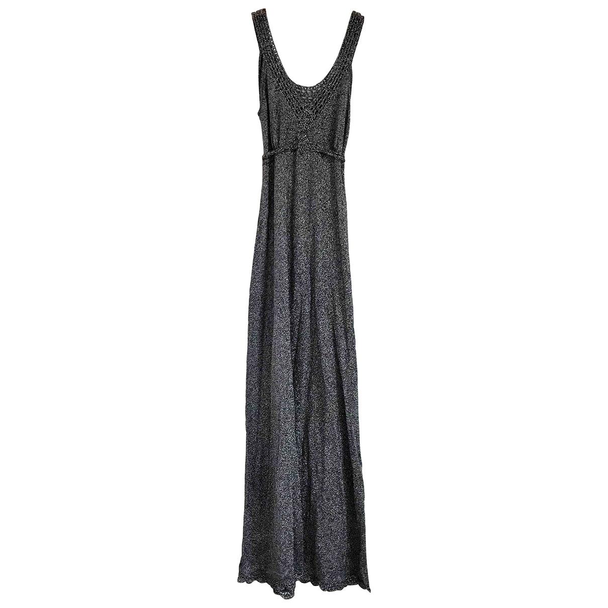 Non Signe / Unsigned \N Kleid in  Silber Baumwolle - Elasthan