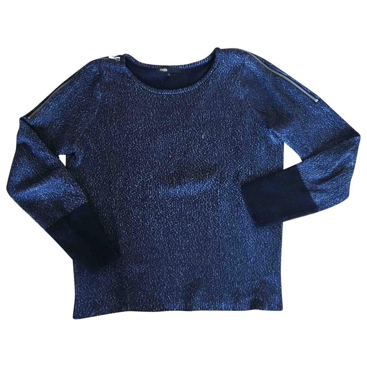 Maje N Blue Cotton Knitwear for Women 38 FR