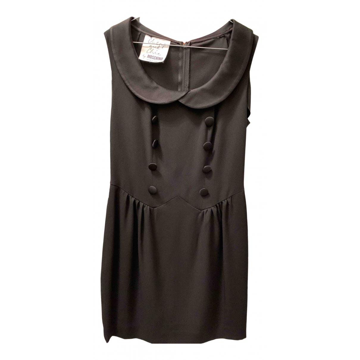 Moschino Cheap And Chic \N Kleid in  Schwarz Viskose