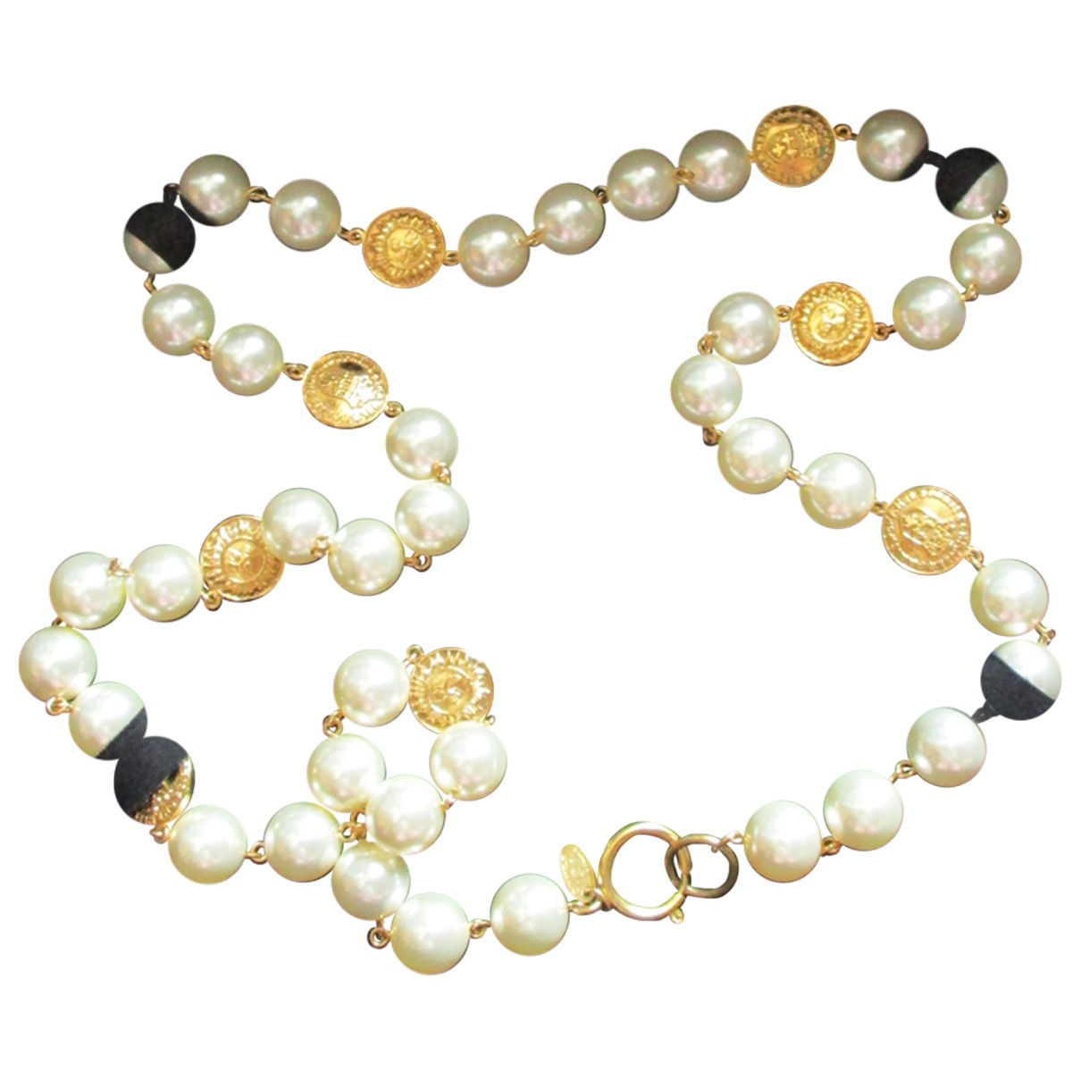 Chanel - Sautoir   pour femme en plaque or - dore