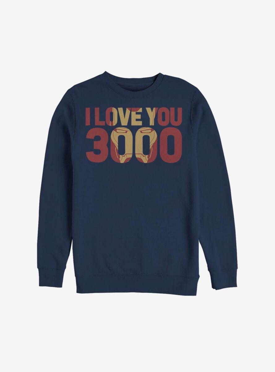 Marvel Iron Man Love You 3000 Sweatshirt