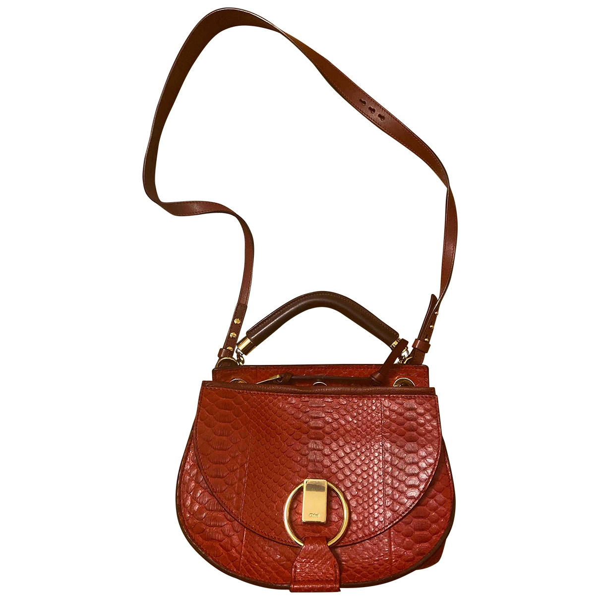 Chloé \N Red Python handbag for Women \N