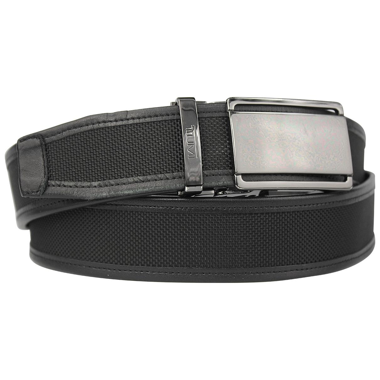 Tumi \N Black Leather belt for Men M international