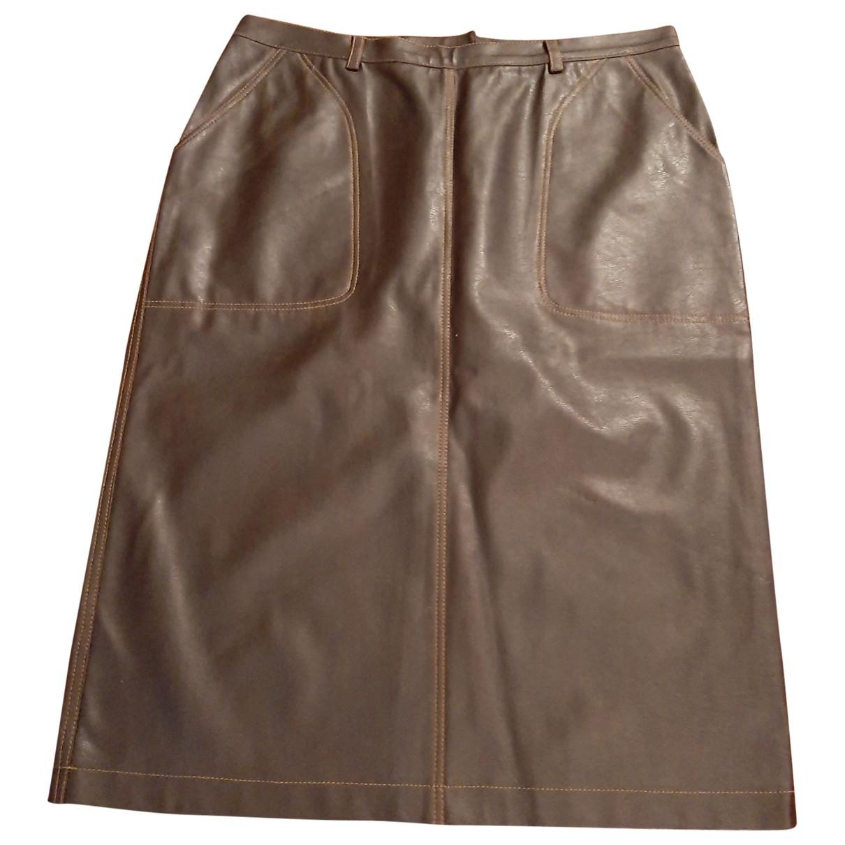 Trussardi Jean - Jupe   pour femme en coton - marron