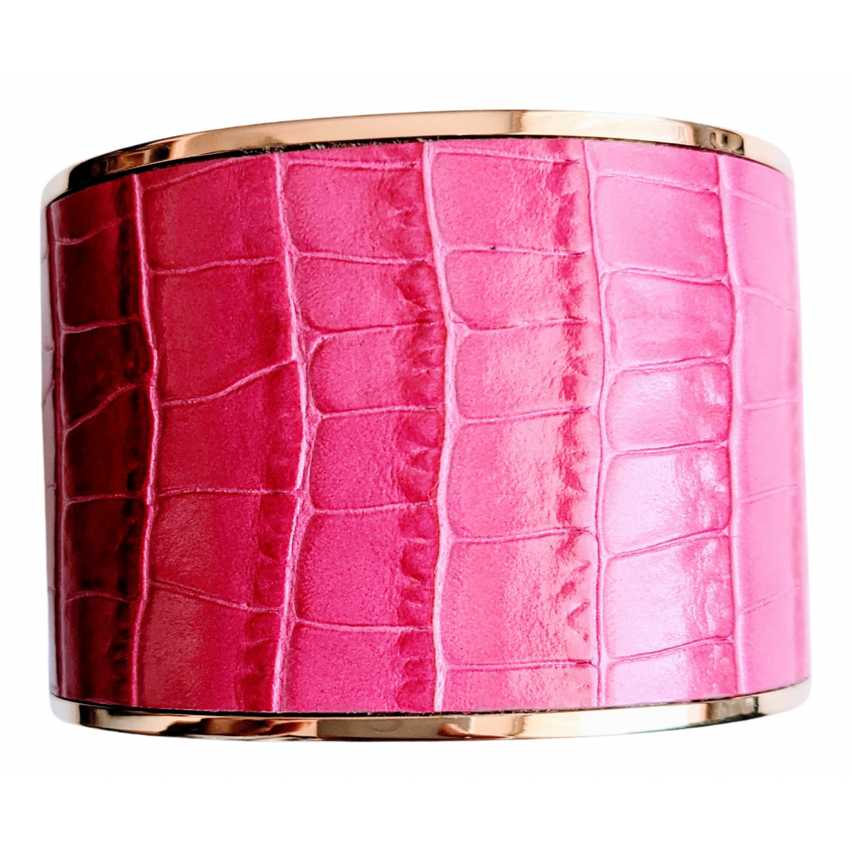 Aspinal Of London \N Armband in  Rosa Leder