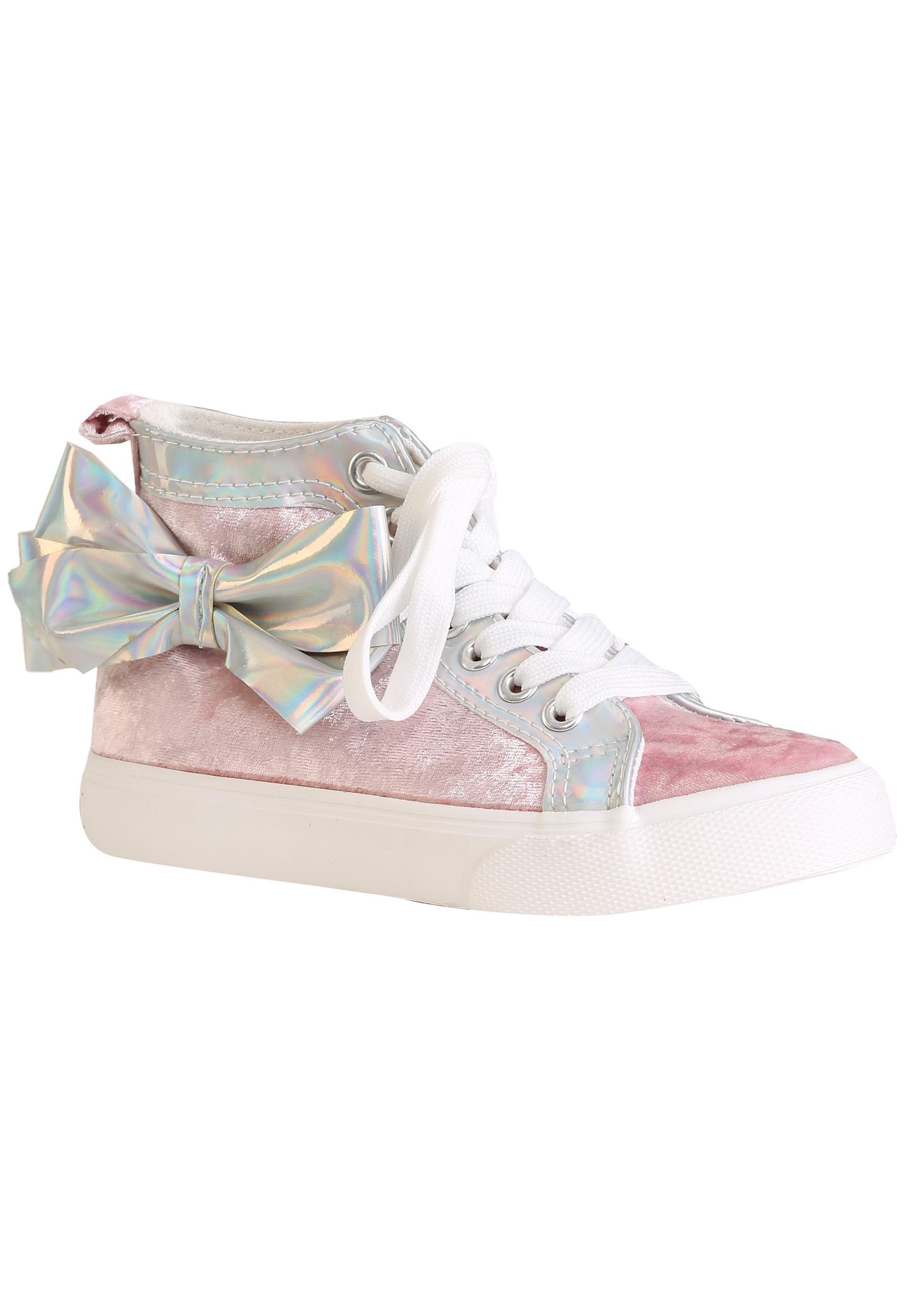 JoJo Siwa Pink High Top Sneakers w/ Bow for Girls