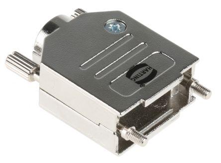 HARTING Metal D-sub Connector Backshell, 9 Way, Silver