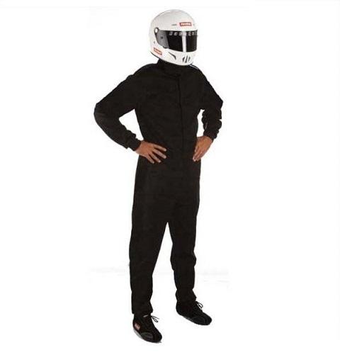 RaceQuip 110 Series Pyrovatex Racing Suit - Black - Small