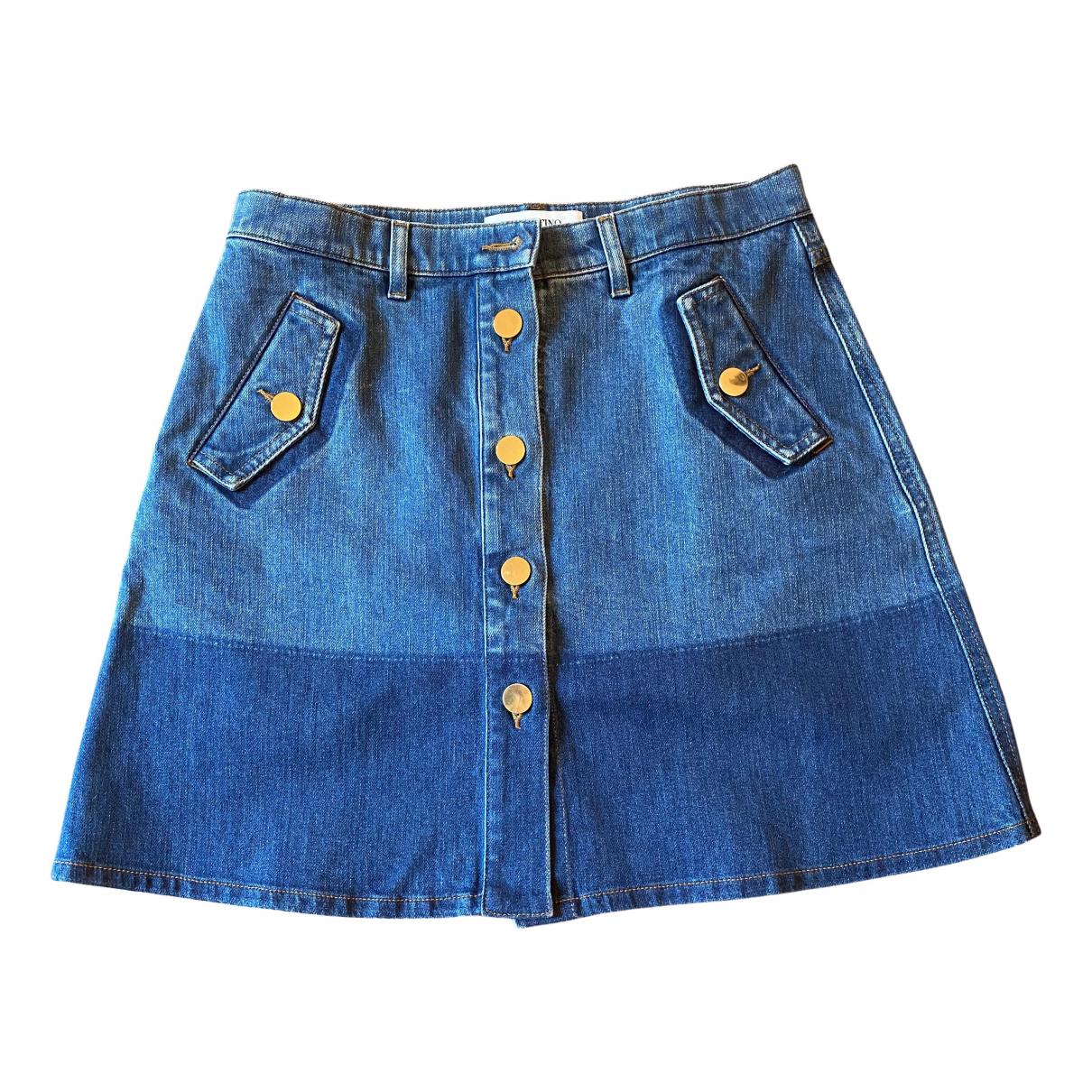 Valentino Garavani - Jupe   pour femme en denim - bleu