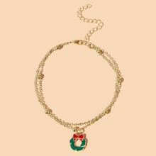 Christmas Bow Bracelet