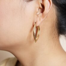 Ohrringe mit Wassertropfen