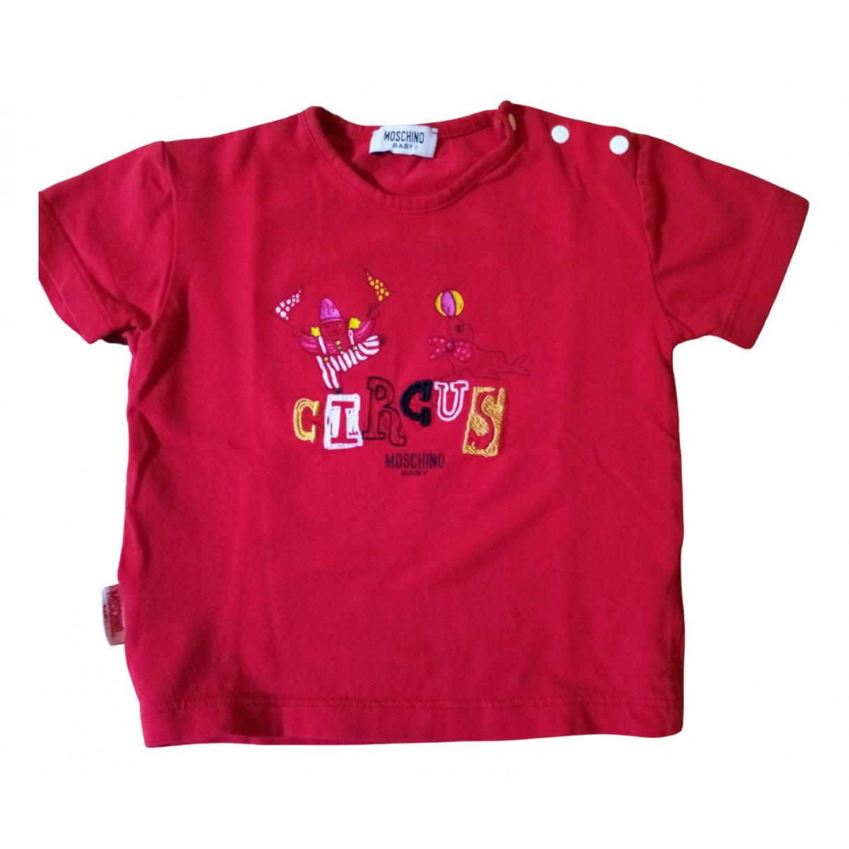 Moschino - Top   pour enfant en coton - rouge