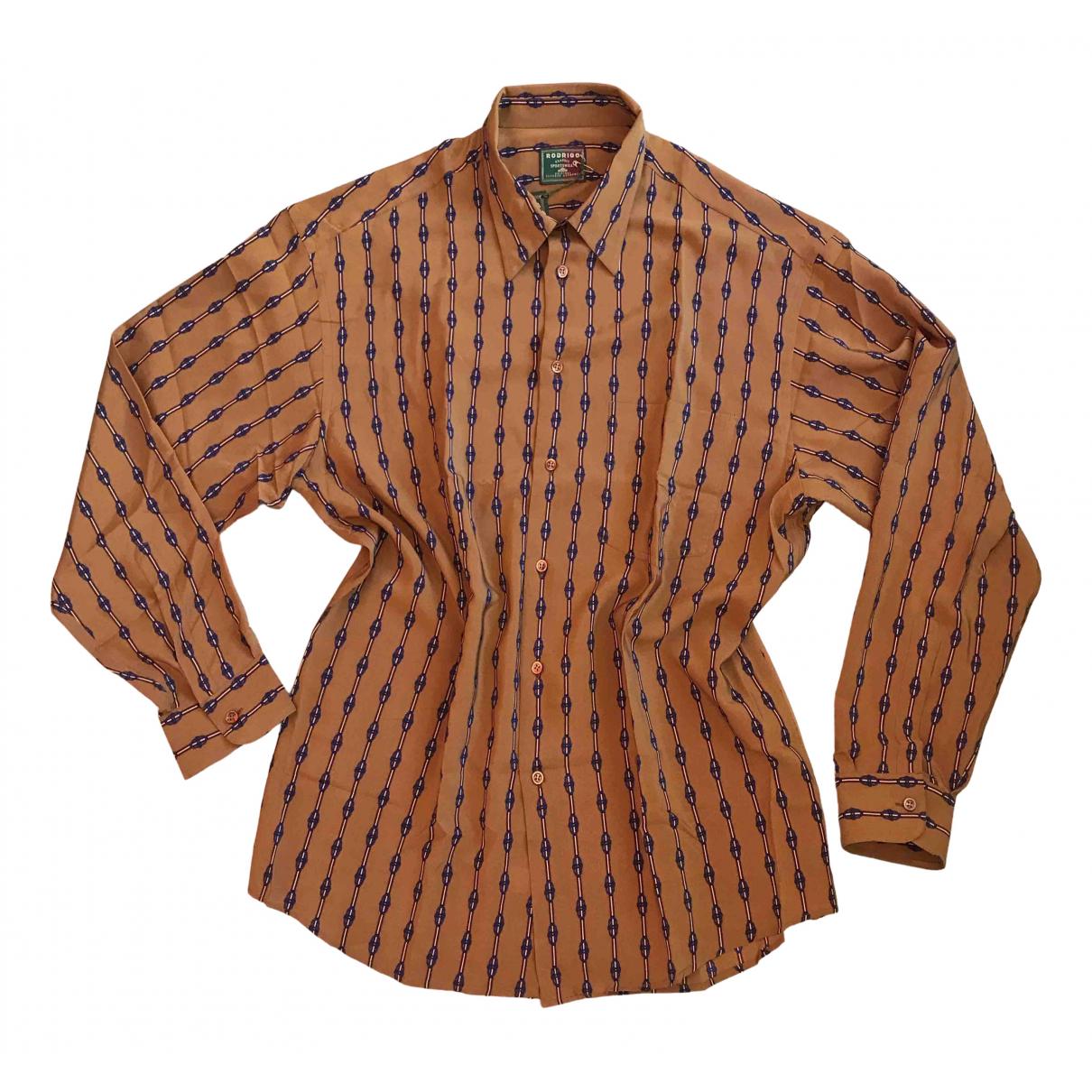 - Chemises   pour homme en soie - camel