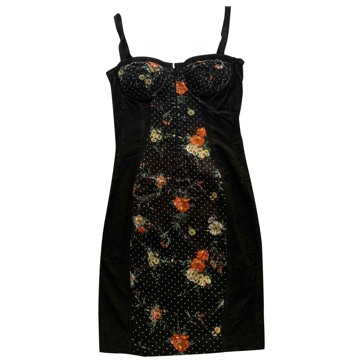 D&g \N Kleid in  Schwarz Baumwolle - Elasthan