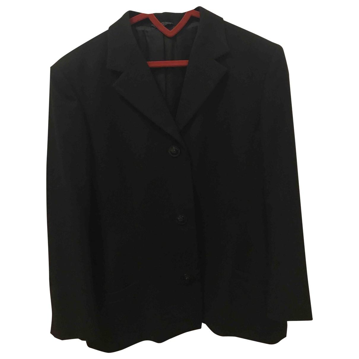 Gianni Versace \N Black Wool jacket for Women 44 IT