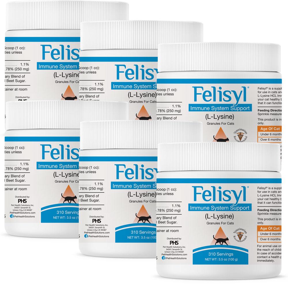 6-PACK Felisyl Immune System Support Granules (21 oz)