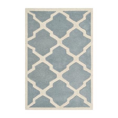 Safavieh Florence Geometric Hand Tufted Wool Rug, One Size , Blue