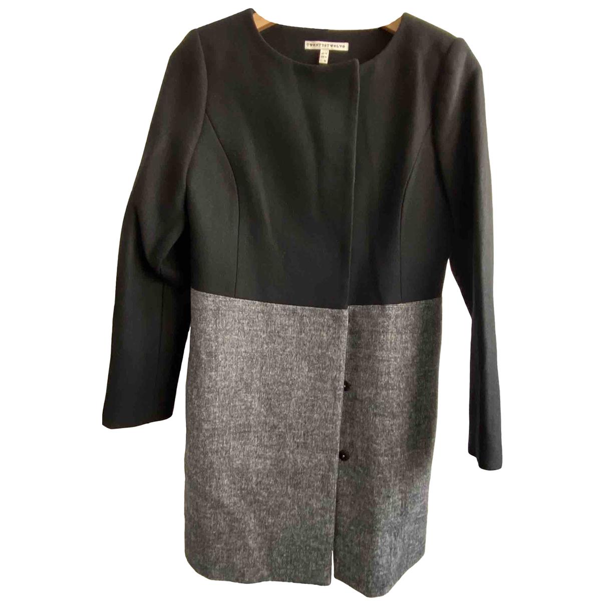 Twenty8twelve By S.miller - Manteau   pour femme en laine - noir