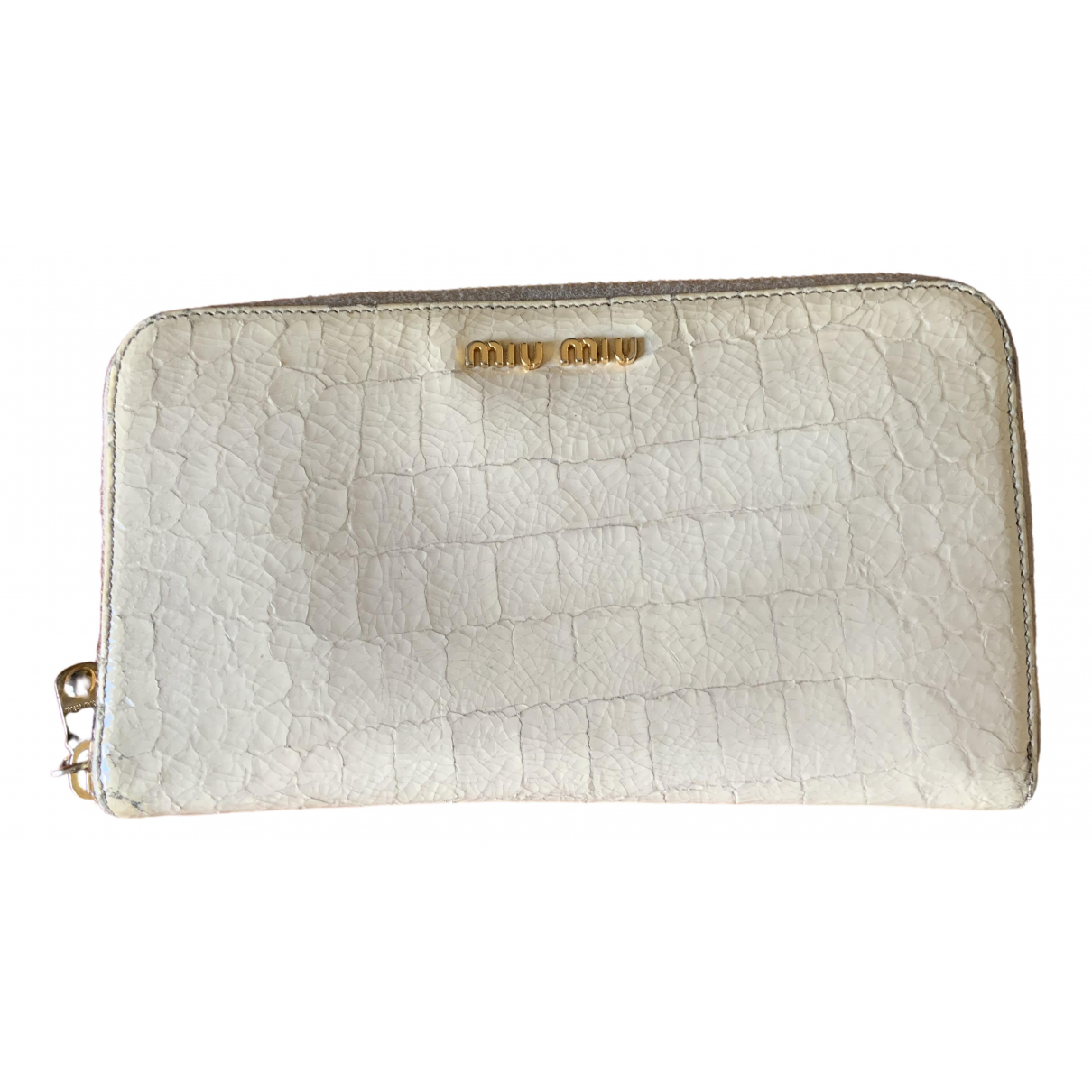 Miu Miu \N White Leather wallet for Women \N