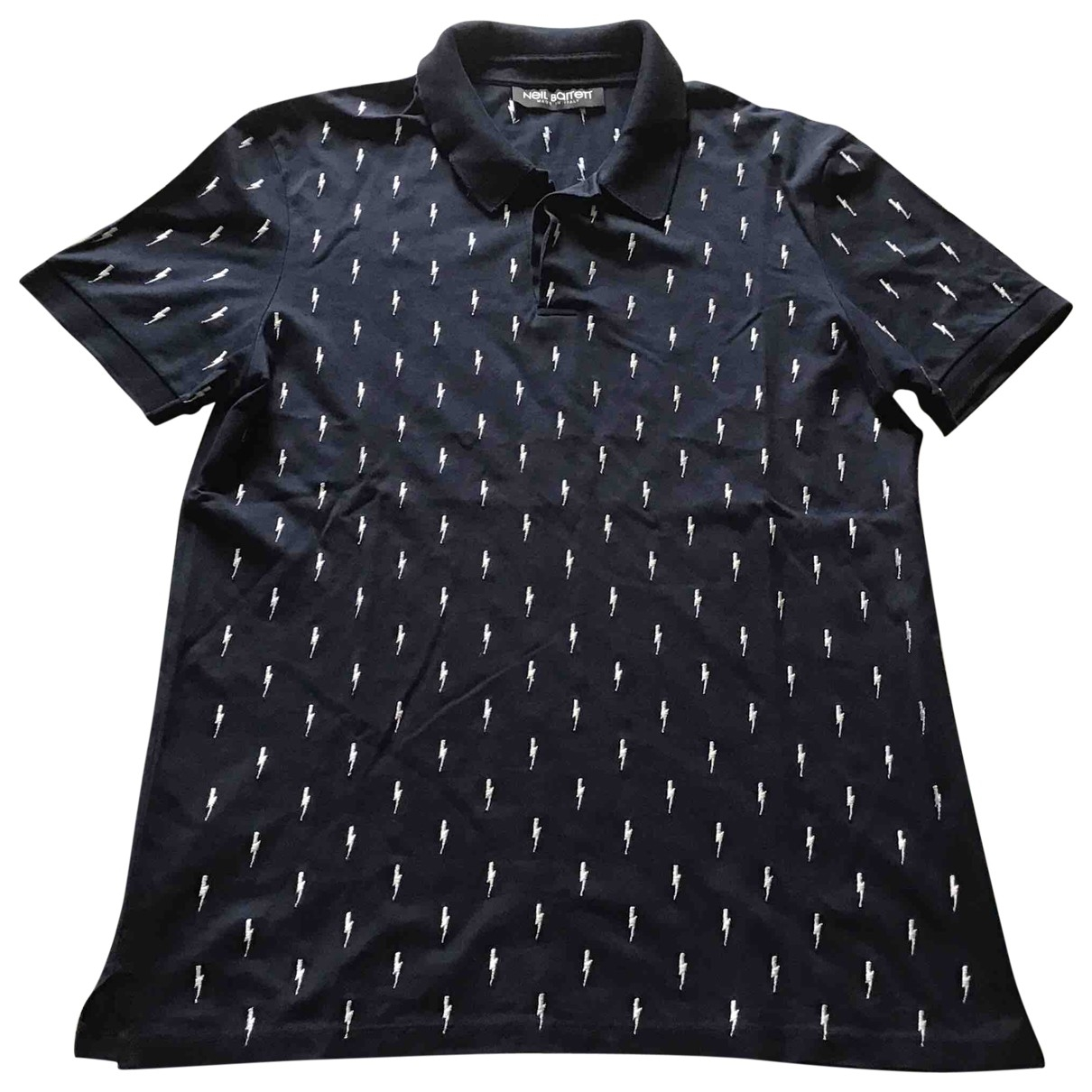 Neil Barrett \N Navy Cotton Polo shirts for Men L International