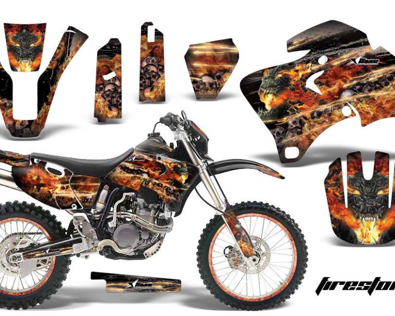 AMR Racing Graphics MX-NP-YAM-WR 250F/400F/426F-98-02-FS K Kit Decal Wrap + # Plates For Yamaha WR 250F |400F |426F 1998-2002áFIRESTORM BLACK