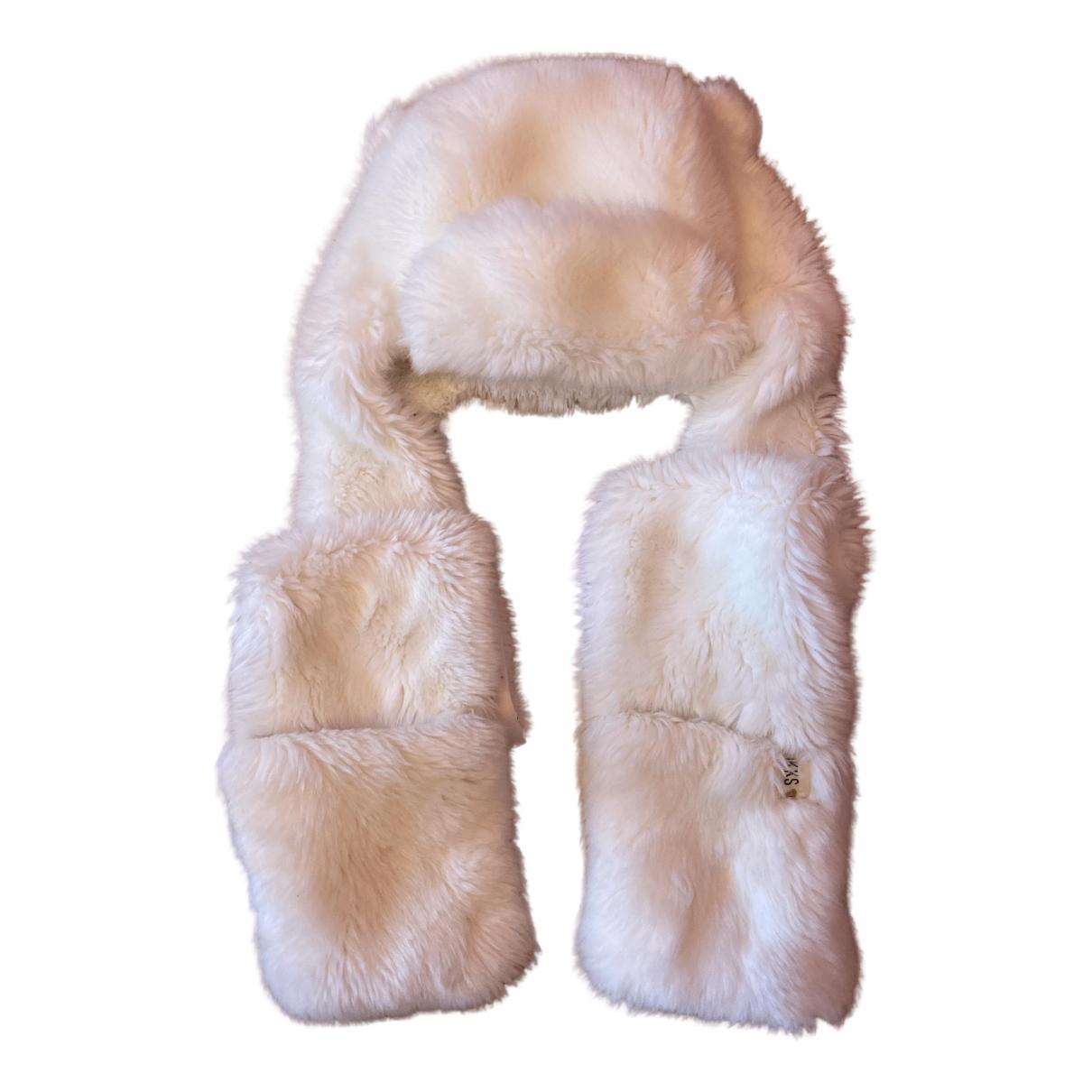 Ikks \N Hut, Muetzen, Handschuhe in  Weiss Fell