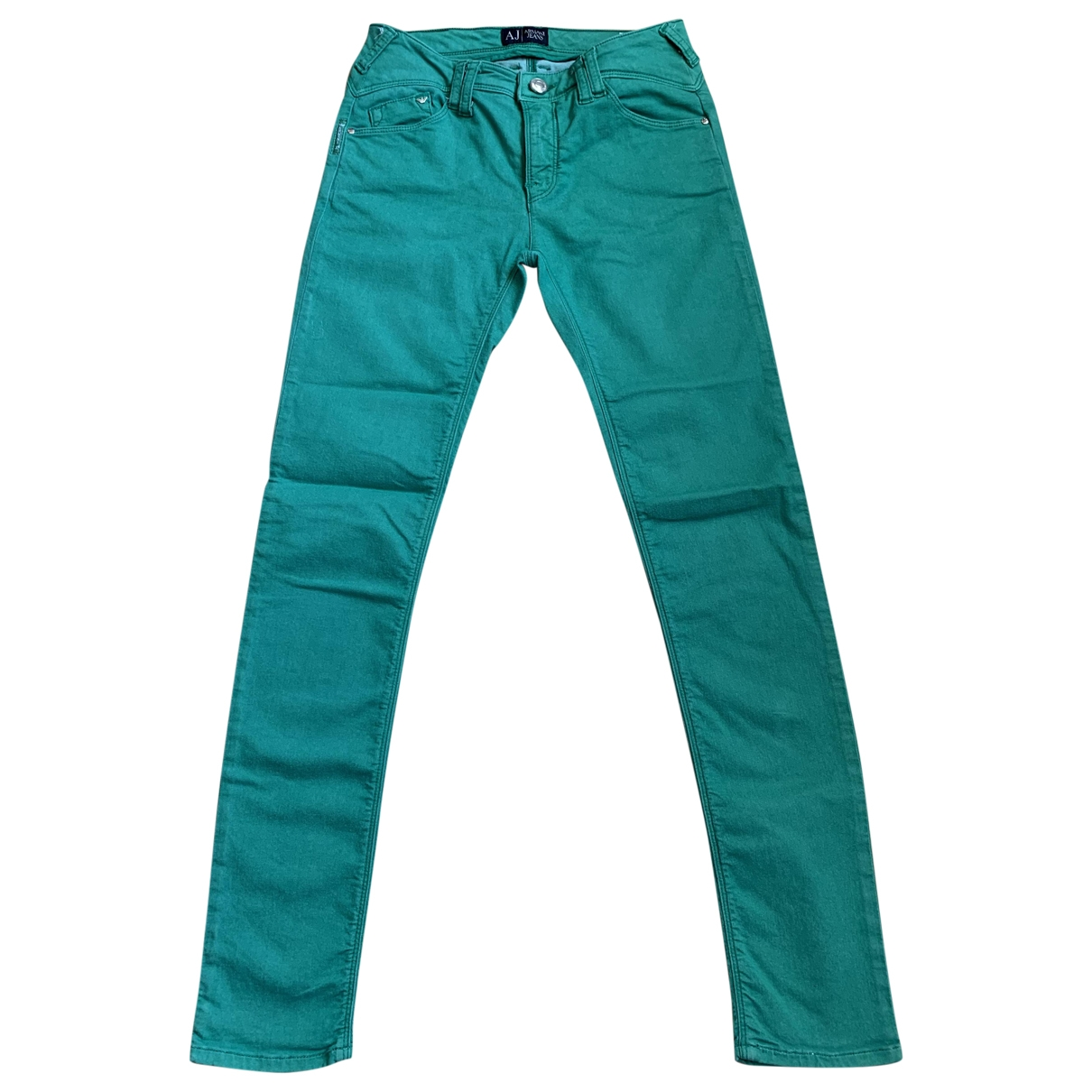 Armani Jeans \N Green Cotton Trousers for Women 34 FR