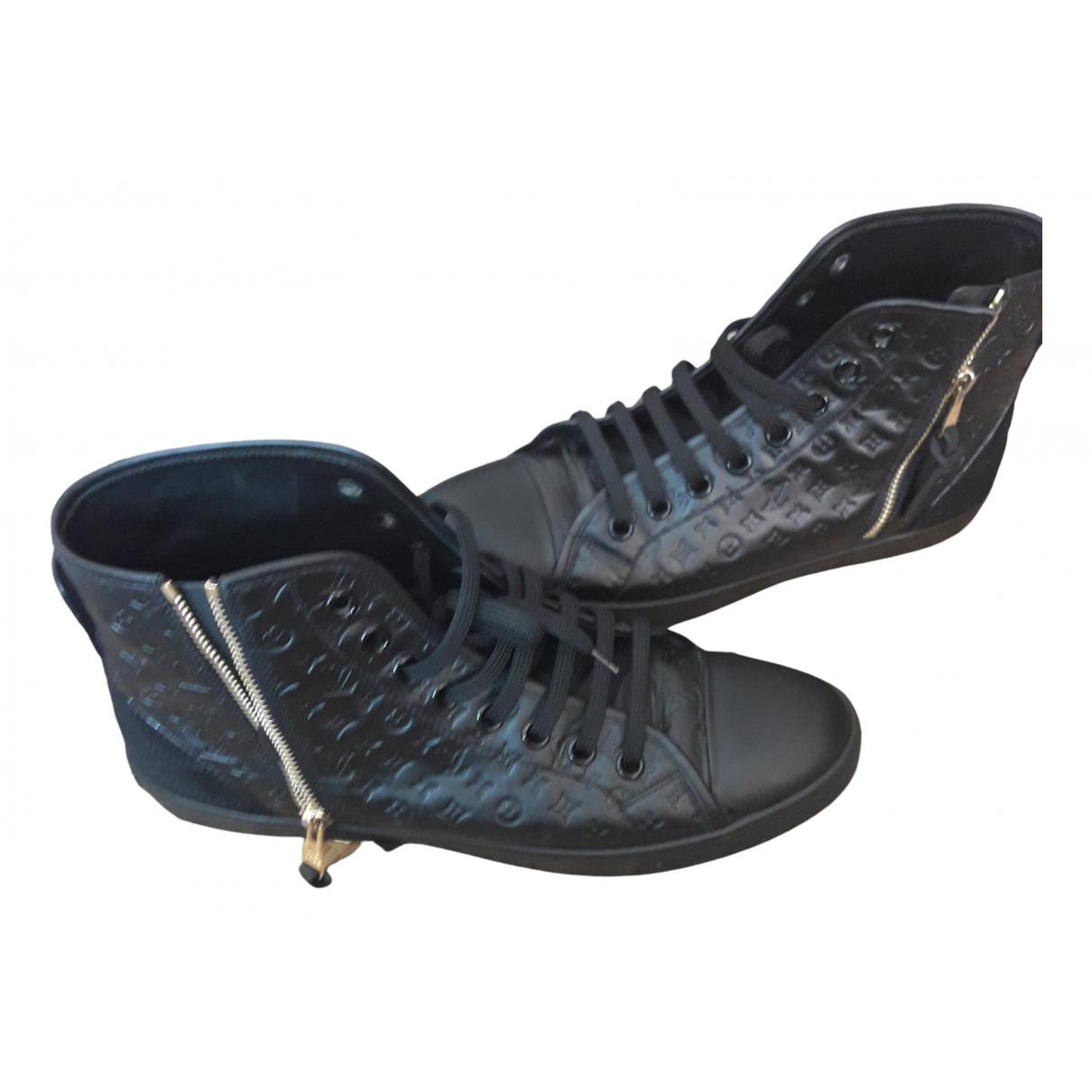 Louis Vuitton - Baskets   pour femme en cuir - noir