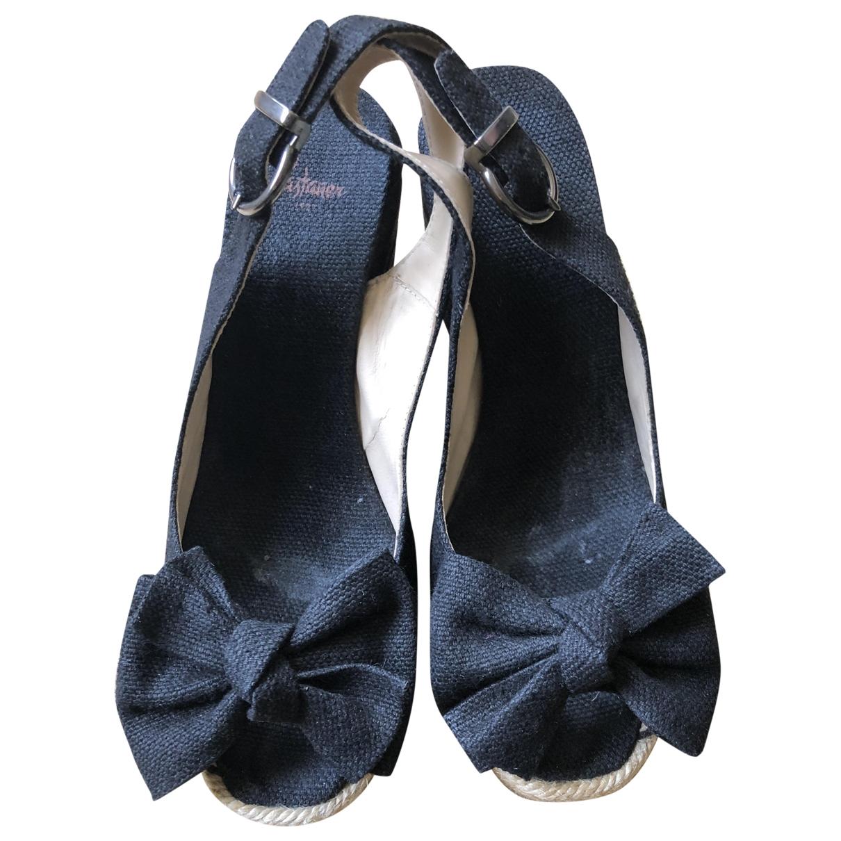 Castaner - Sandales   pour femme en toile - noir