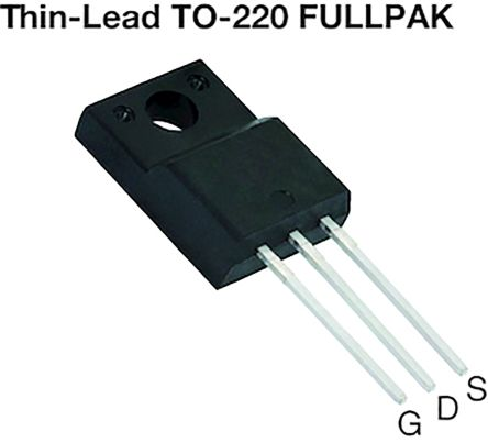 Vishay N-Channel MOSFET, 30 A, 600 V, 3-Pin TO-220  SIHA100N60E-GE3 (50)