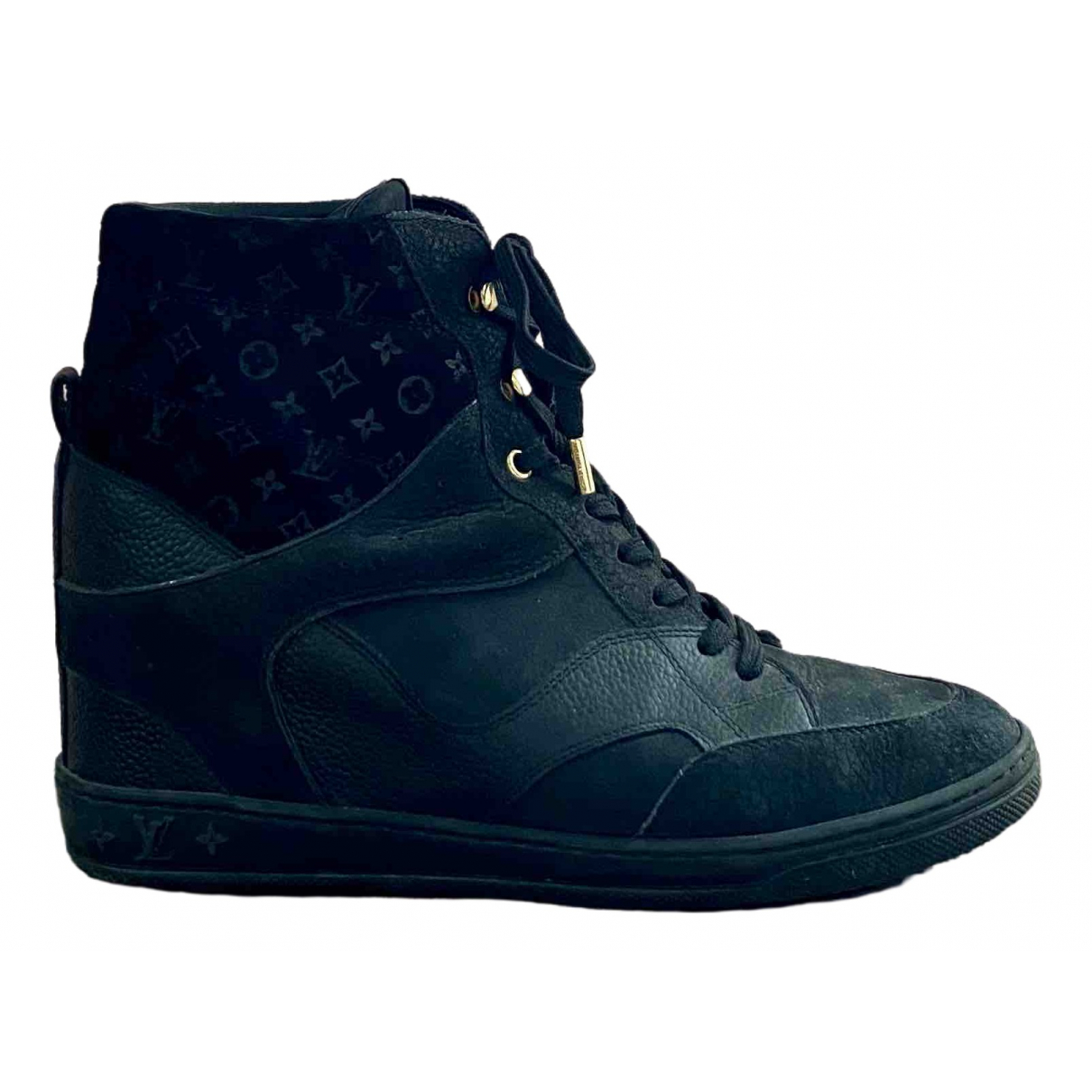 Louis Vuitton \N Black Leather Trainers for Women 40 EU