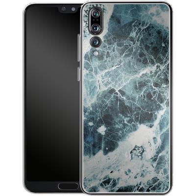 Huawei P20 Pro Silikon Handyhuelle - Blue Sea Marble von Emanuela Carratoni