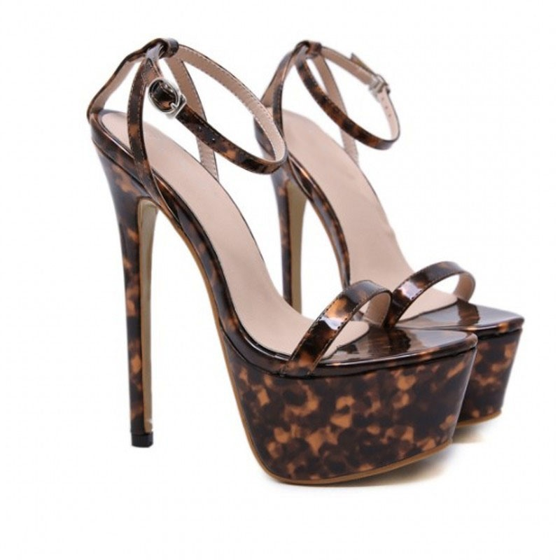 Ericdress Stiletto Heel Open Toe Line-Style Buckle Fashion Sandals