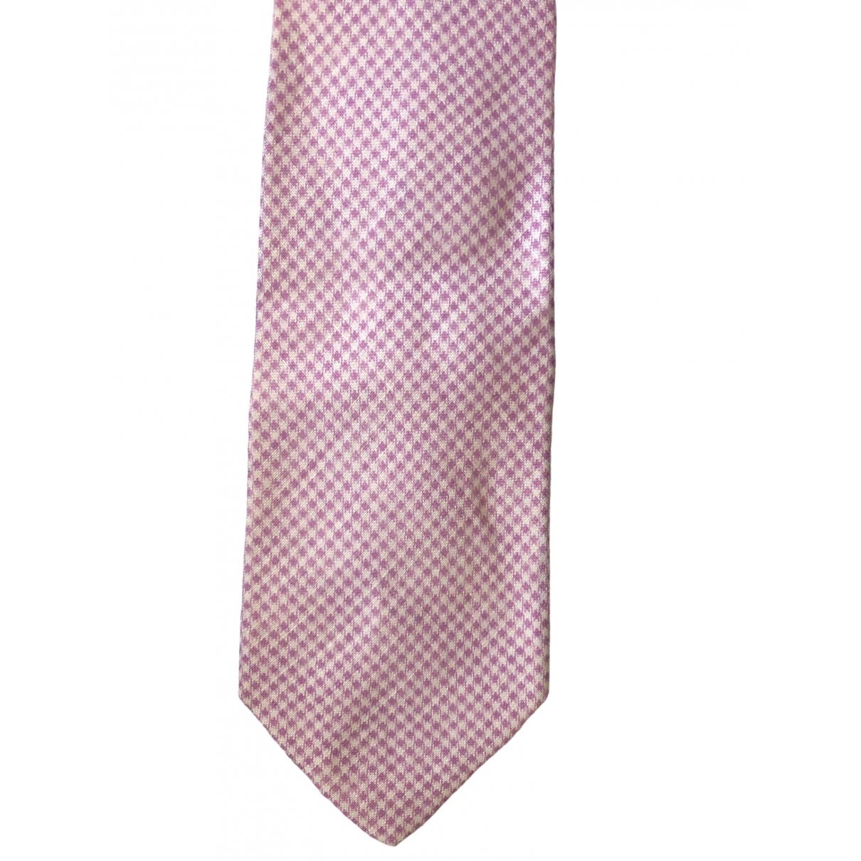 Bigi - Cravates   pour homme en soie - rose