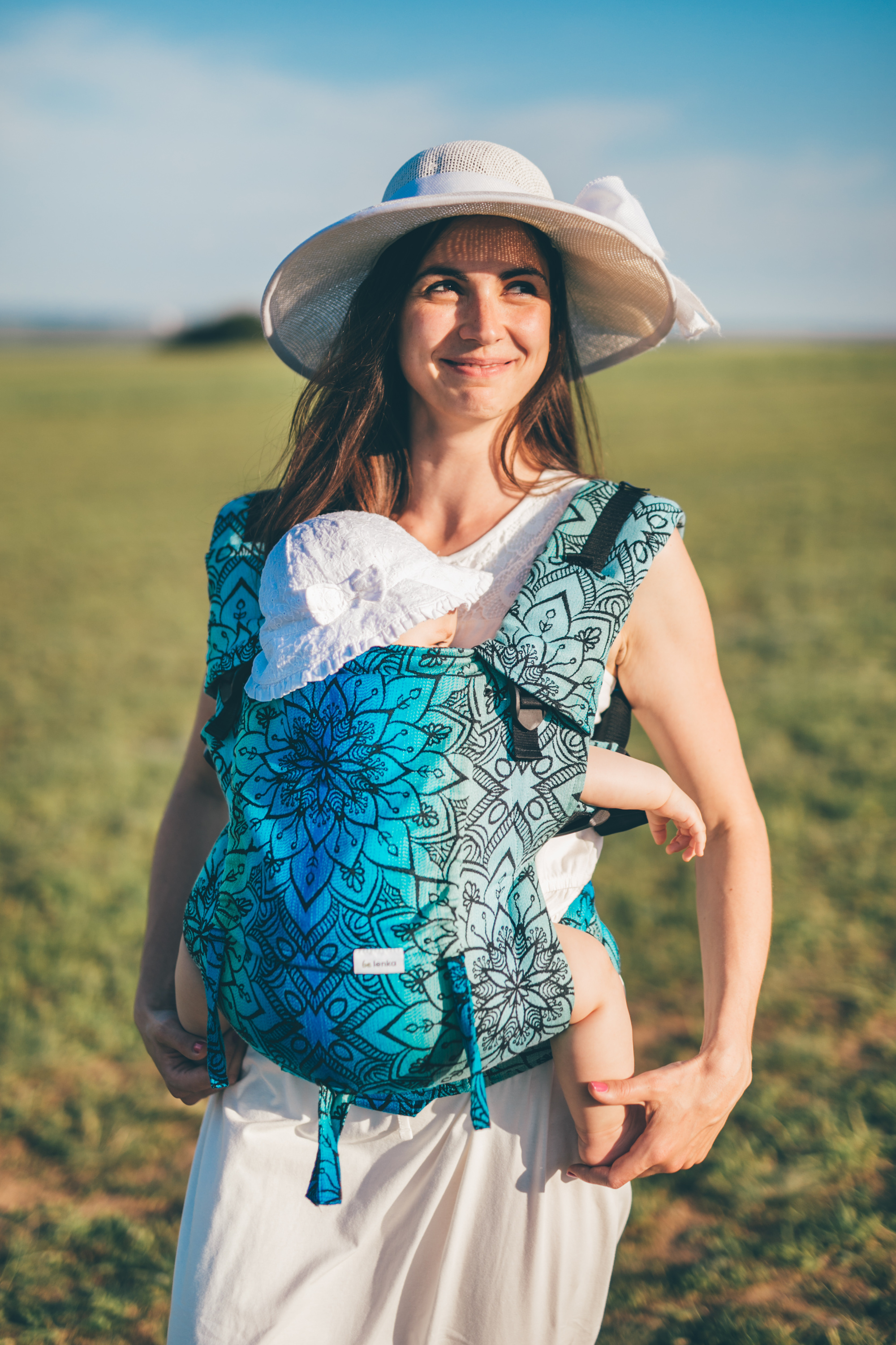 Baby Carrier - Be Lenka 4ever Mandala - Polar Night classic without the possibility of crossing