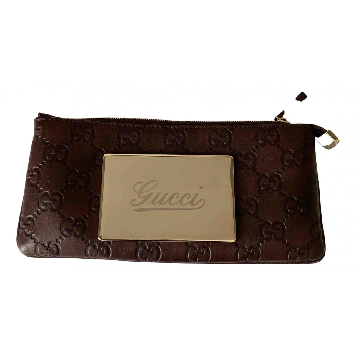 Gucci \N Kleinlederwaren in  Braun Leder