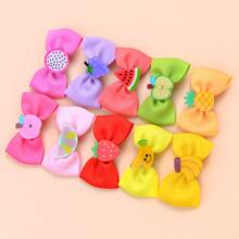 10pcs Toddler Girls Bow Fruit Hair Clip