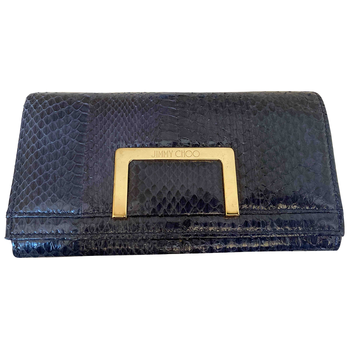 Jimmy Choo \N Navy Water snake wallet for Women \N