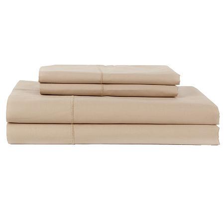 Perthshire Platinum 1000tc Cotton Sateen Sheet Set, One Size , Beige