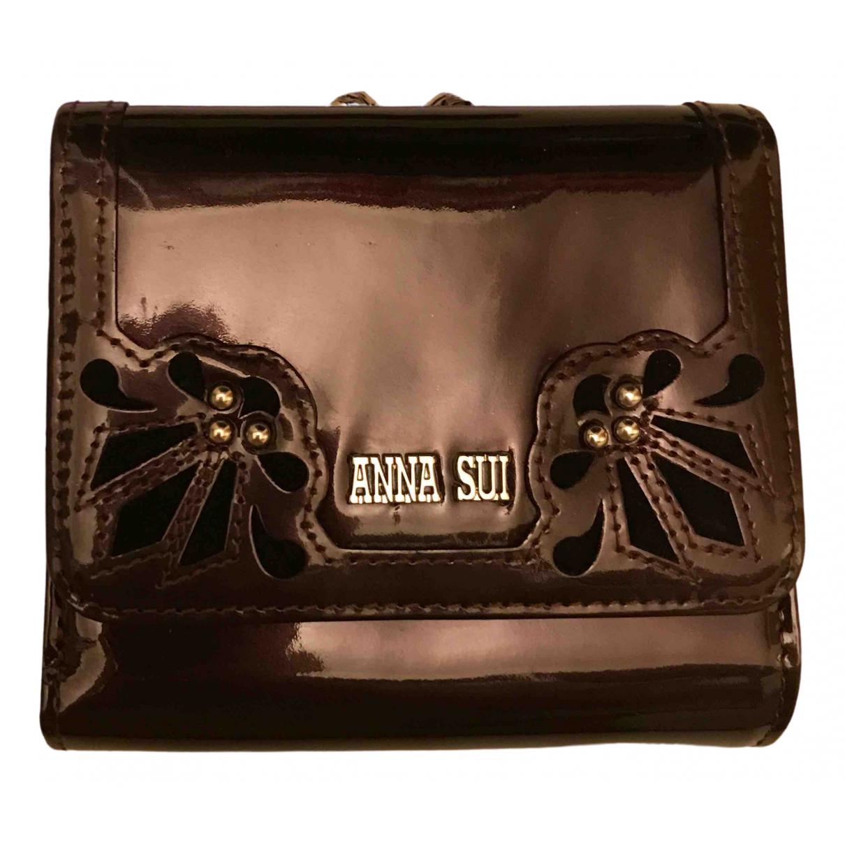 Anna Sui \N Portemonnaie in  Lila Lackleder