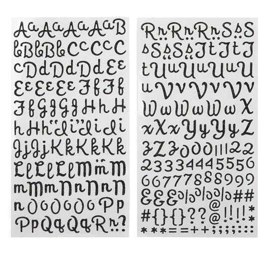 Recollections™ Glitter Alphabet Stickers, Script in Black | 2 | Michaels®