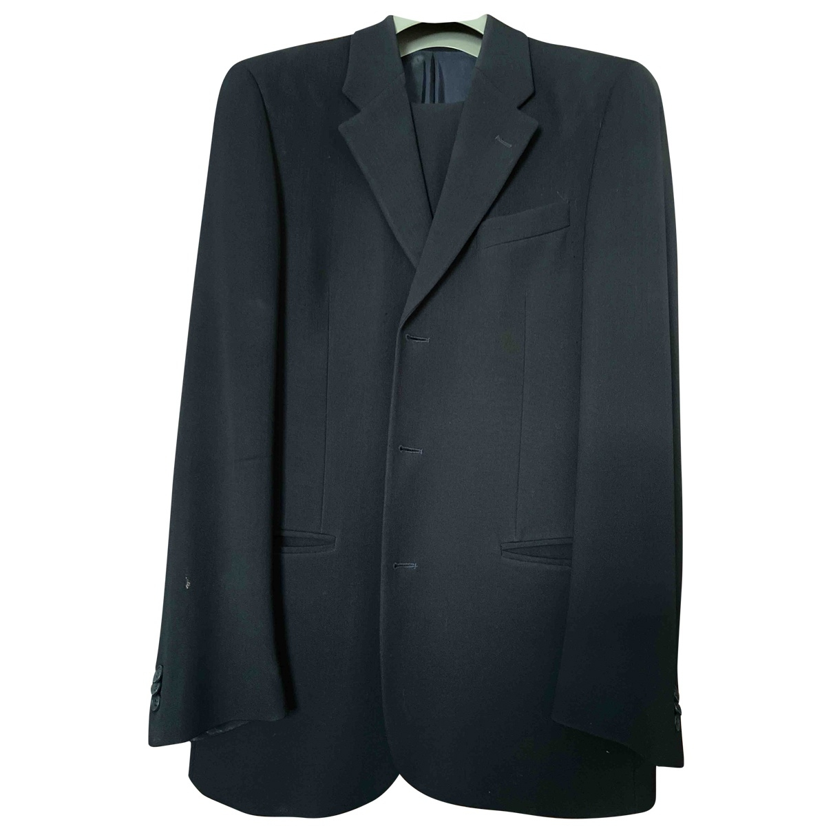 Emporio Armani \N Black Wool Suits for Men 46 IT