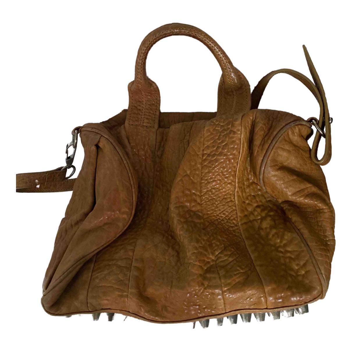 Alexander Wang Rocco Khaki Leather handbag for Women \N
