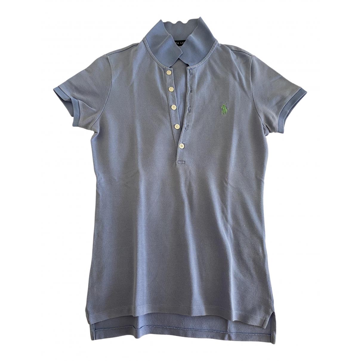 Polo Ralph Lauren - Top Polo ajuste manches courtes pour femme en coton - turquoise