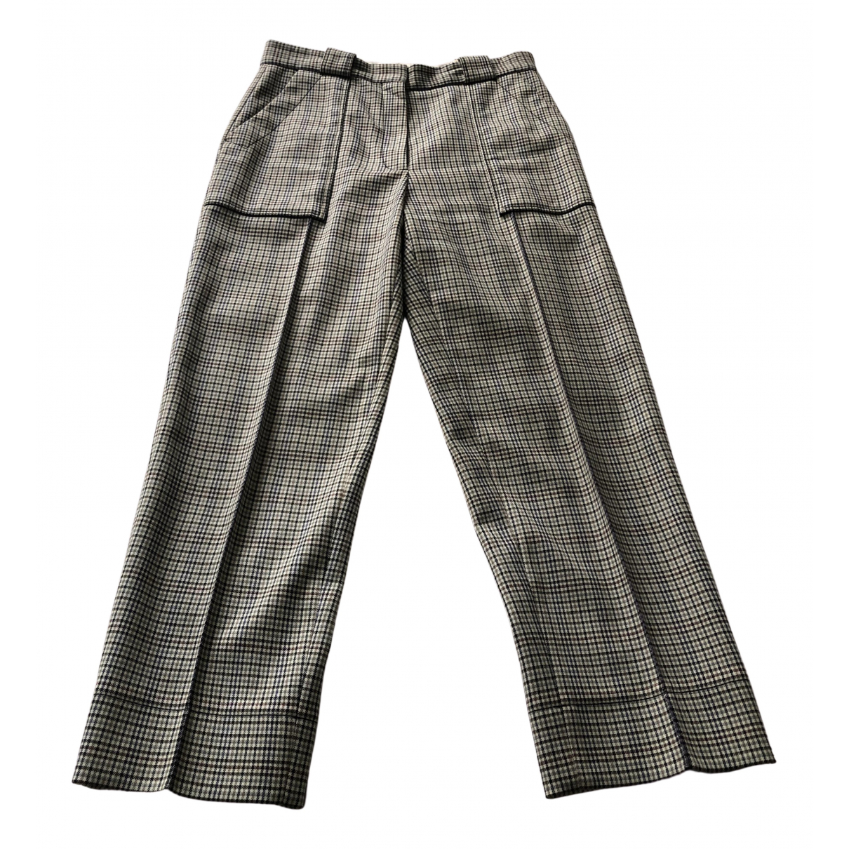Sandro N Multicolour Cotton Trousers for Women 38 FR