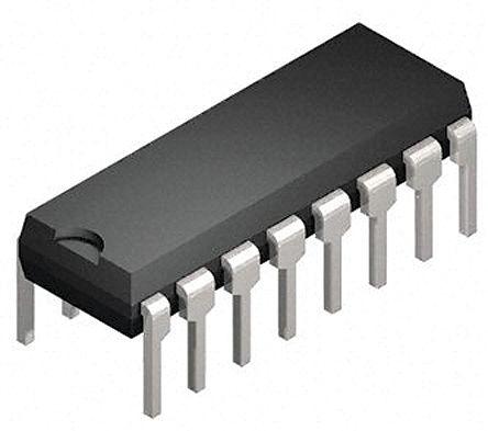 Isocom , ISP844AG AC Input Phototransistor Output Quad Optocoupler, Through Hole, 16-Pin DIP (25)