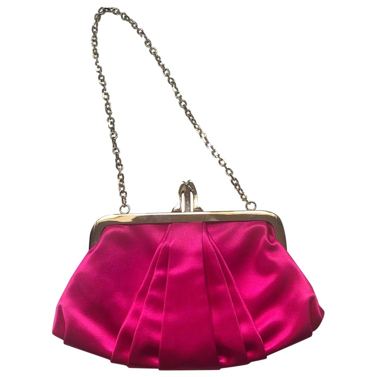 Christian Louboutin - Pochette   pour femme en toile - rose