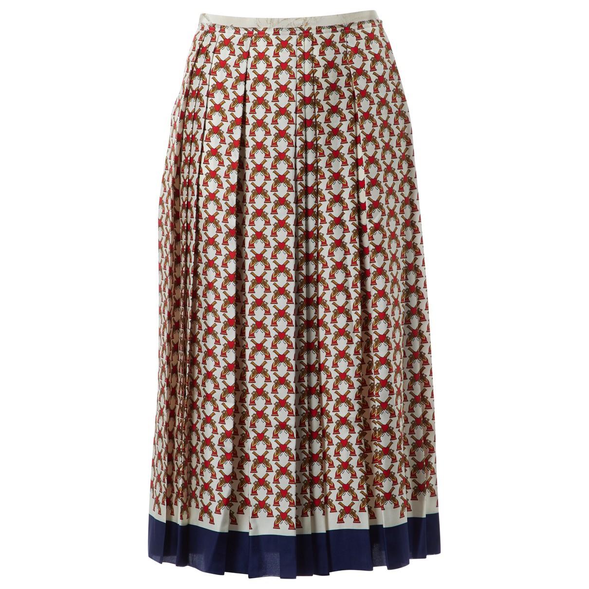 Gucci - Jupe   pour femme en soie - multicolore