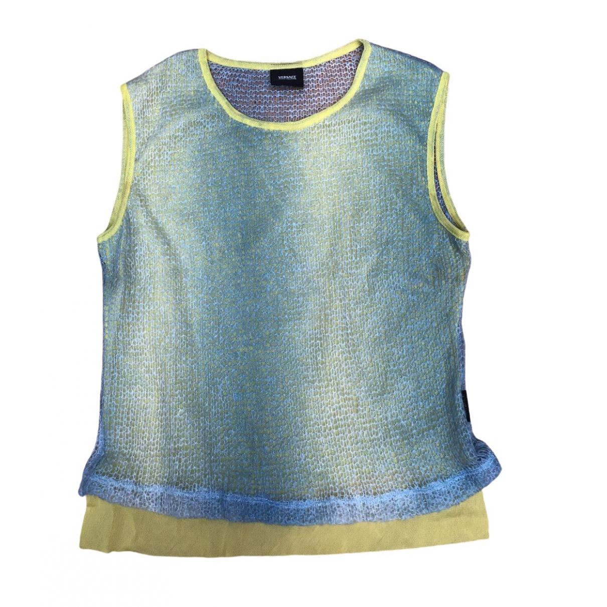 Versace Jean - Top   pour femme en laine - turquoise