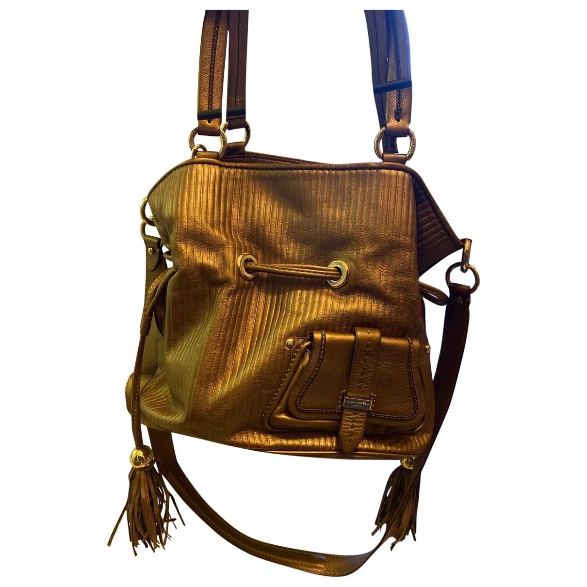Lancel 1er Flirt Gold Leather handbag for Women \N